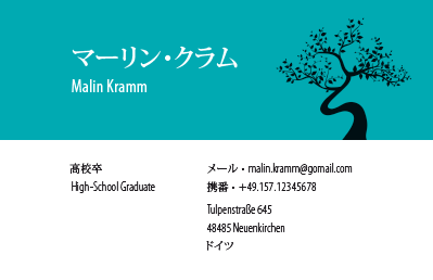 Japanese Business Card: Translation, Design, Print - id: 1650 |