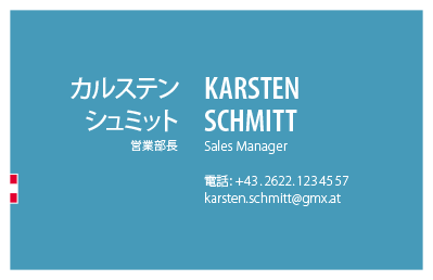 Japanese Business Card: Translation, Design, Print, Austria - id: 1679 |
